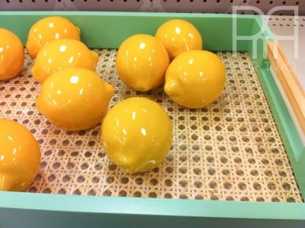target ceramic lemons threshold canning tray in blue 2015