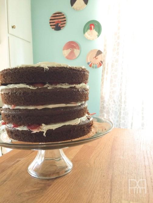 backyard dinner cake
