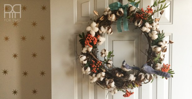 cotton bud fall wreath 1