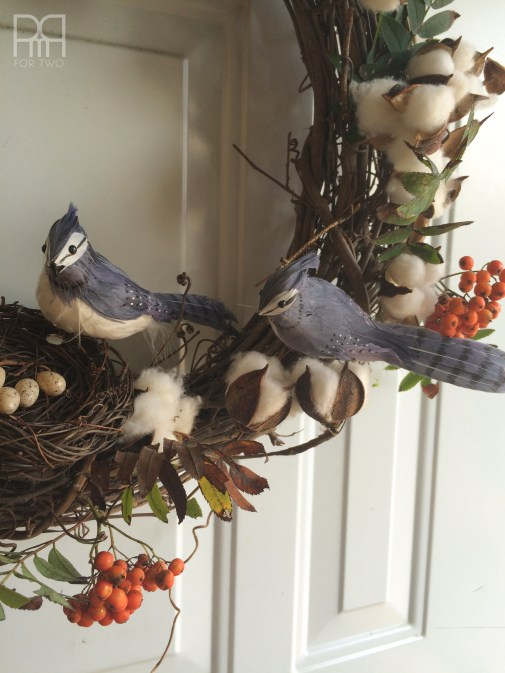 cotton bud fall wreath 2