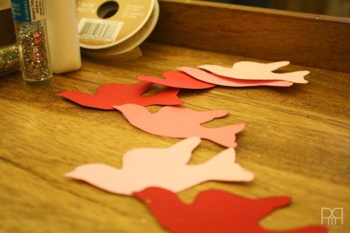 DIY glitter bird garland 2