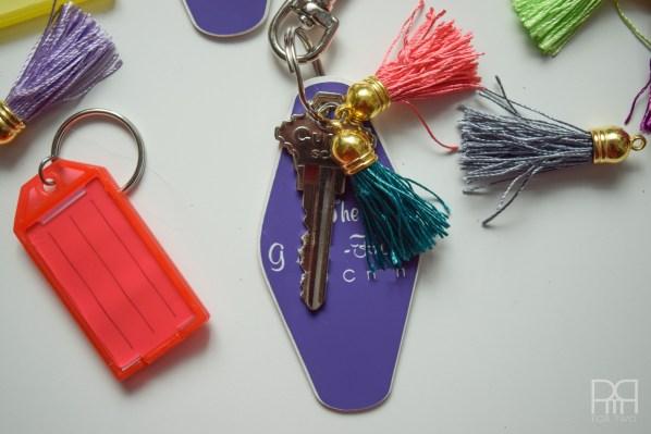 tassel keychain complete
