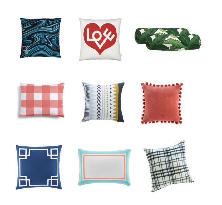 Pillows for Florida Room