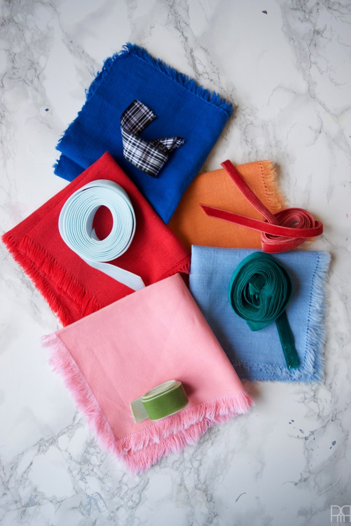 upcycled-ribbon-cocktail-napkins