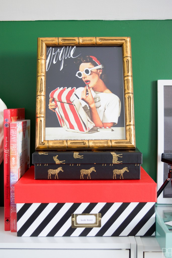 Home Office Reveal - The Green Grotto vogue art
