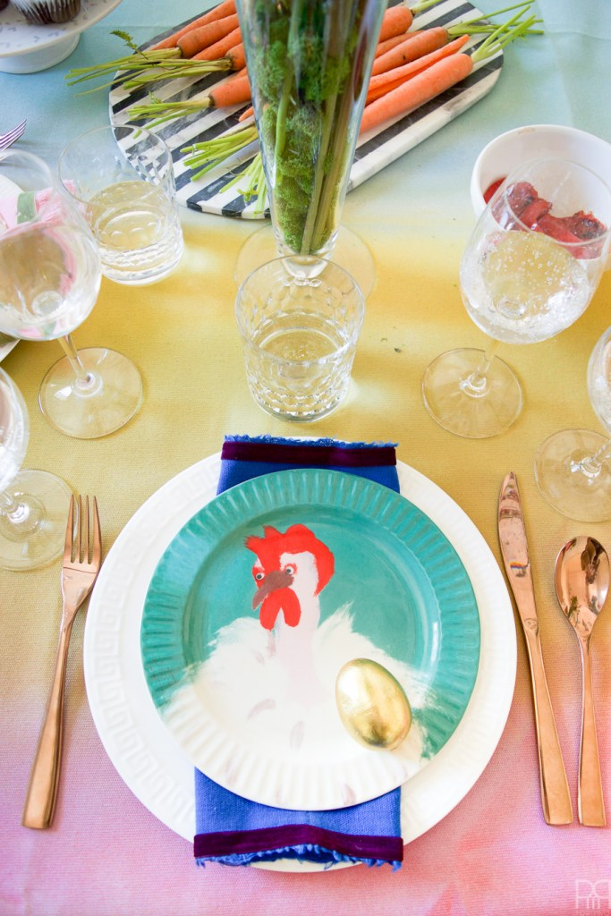 Colourful & Eclectic Easter Table Decor