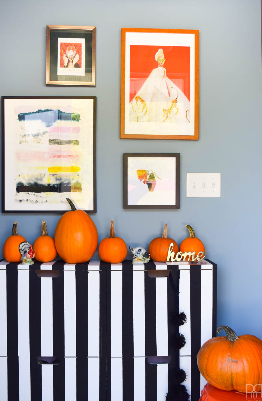 Graphic Fall Entryway
