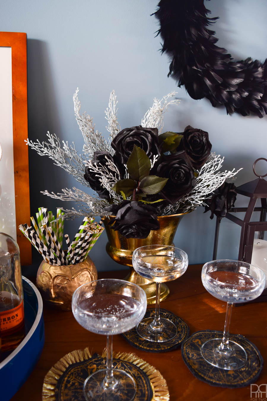 An All Hallows Eve Tablescape that's mature enough for dinner, and low-key enough for a casual dinner with friends. Grab your costume and maybe a candy.