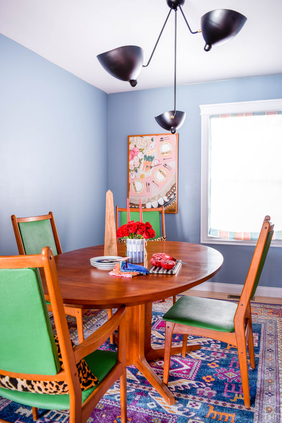 Colourful & Eclectic Dining Room Reveal