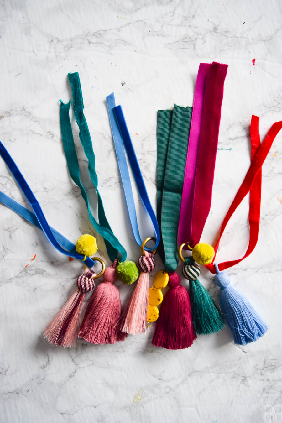 Tassel and Pom Pom Decanter Tags