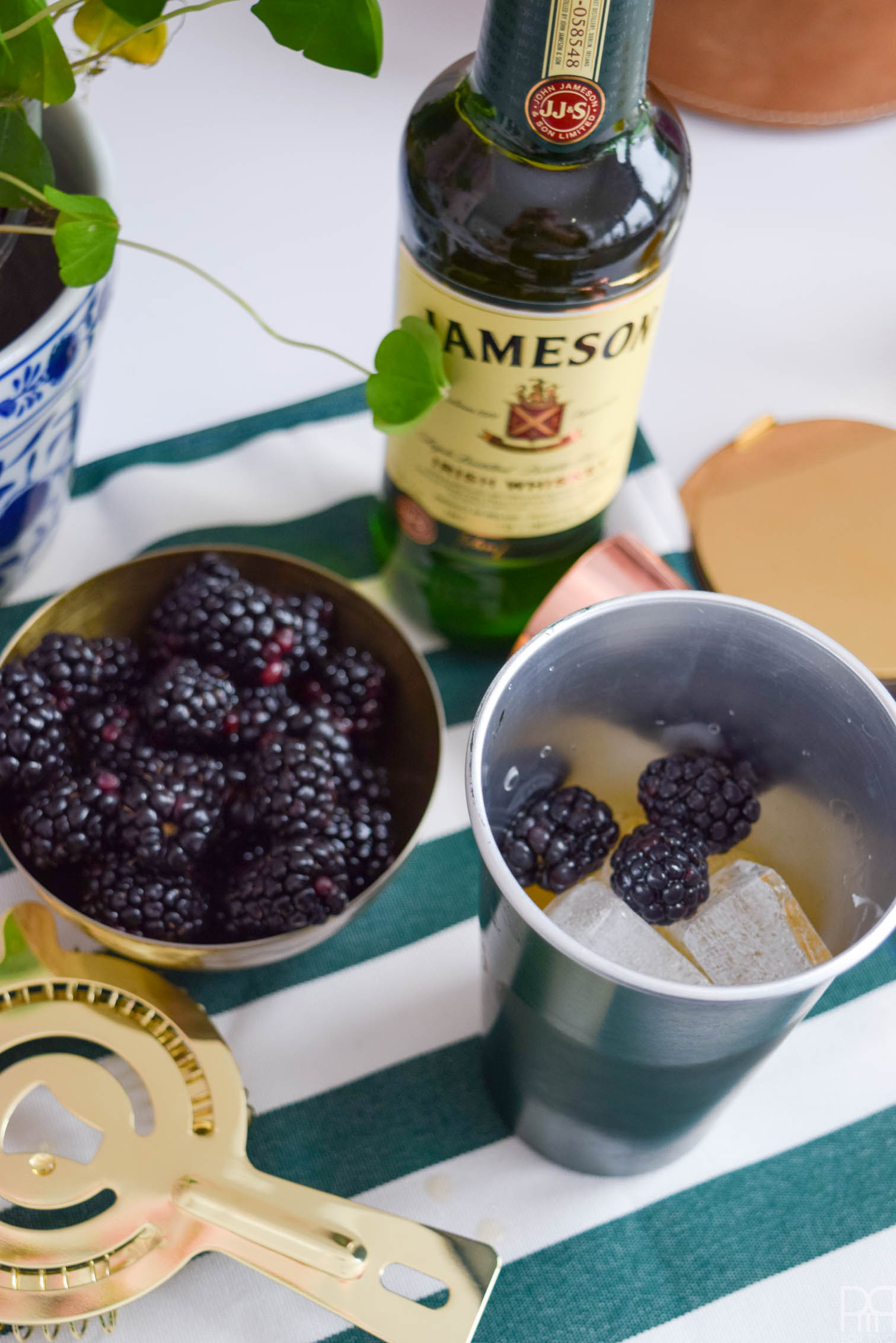 The blackberry whiskey sour - a non traditional whiskey cocktail for St.Patrick's day. It's all you need to get your weekend started in style.