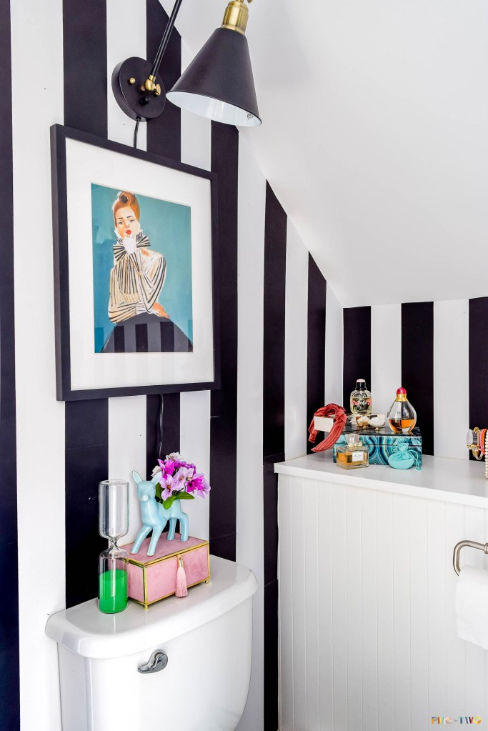 Kate Spade Inspired Powder Room – The Reveal