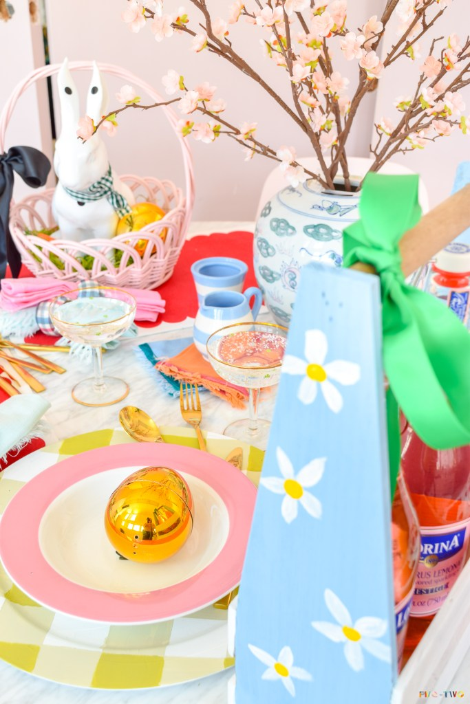 Kate Spade Inspired Easter Tablescape