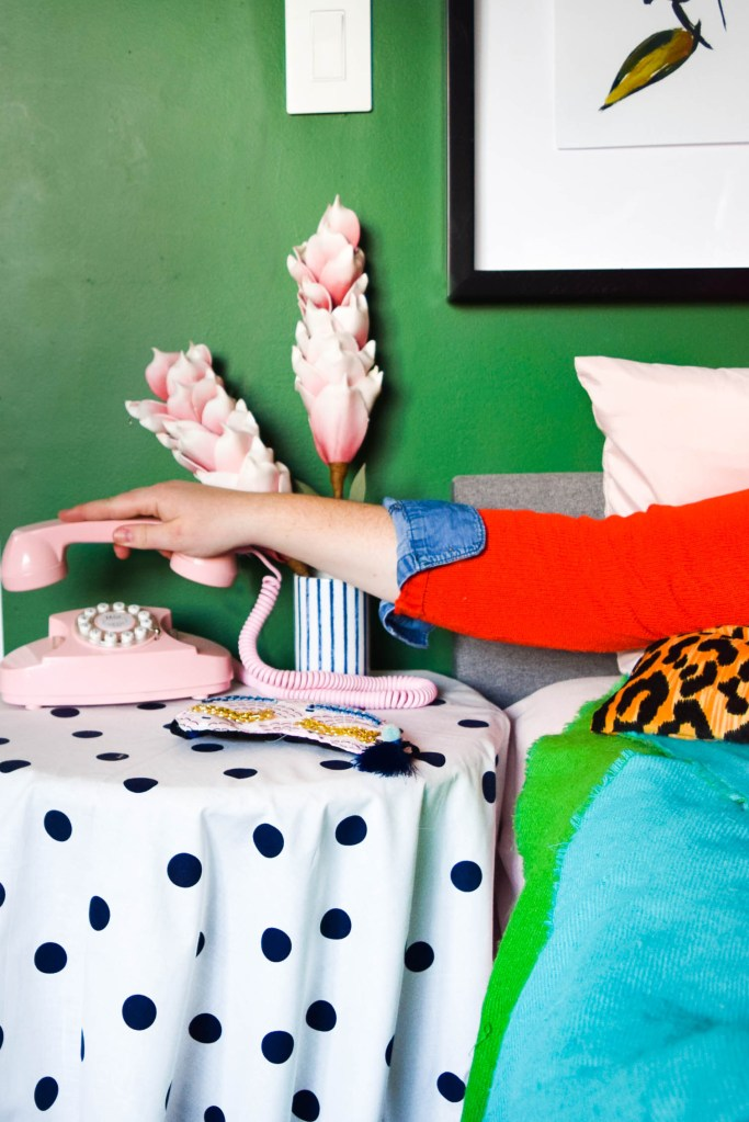 Colourful & Eclectic Guest Room (& Office)