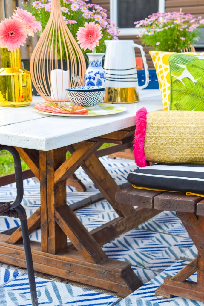 Painted Patio Tiles Makeover