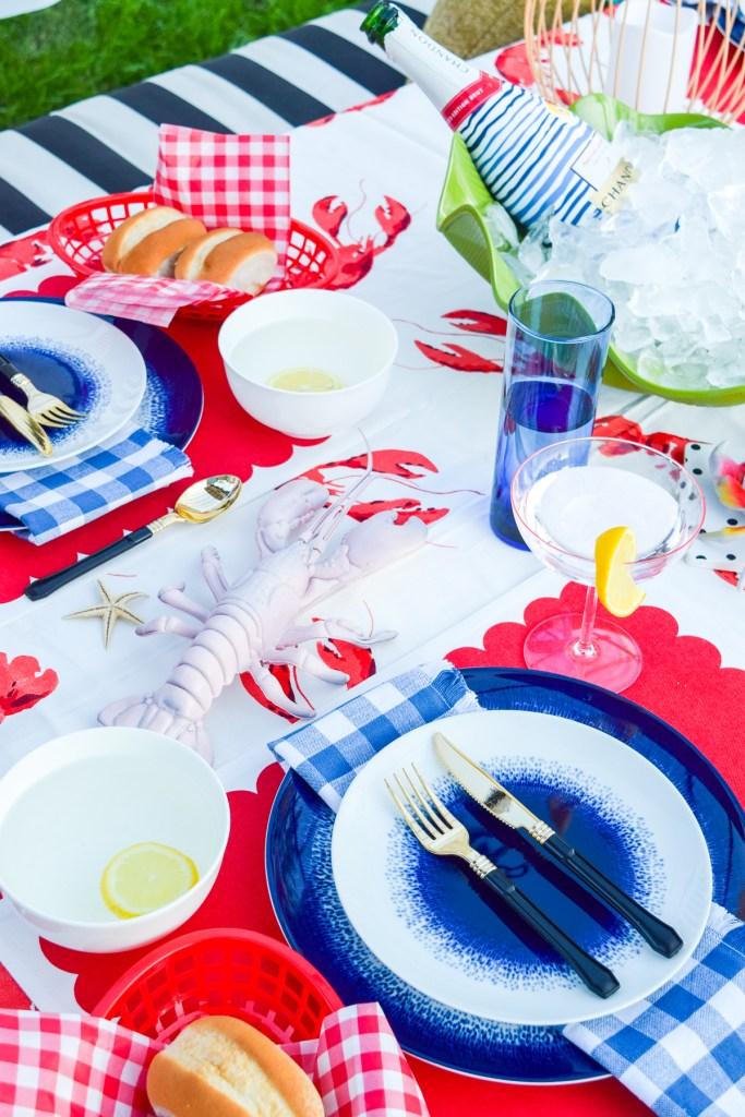seafood table decor