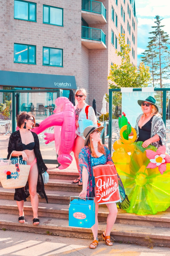A Public Pool Party with Homesense