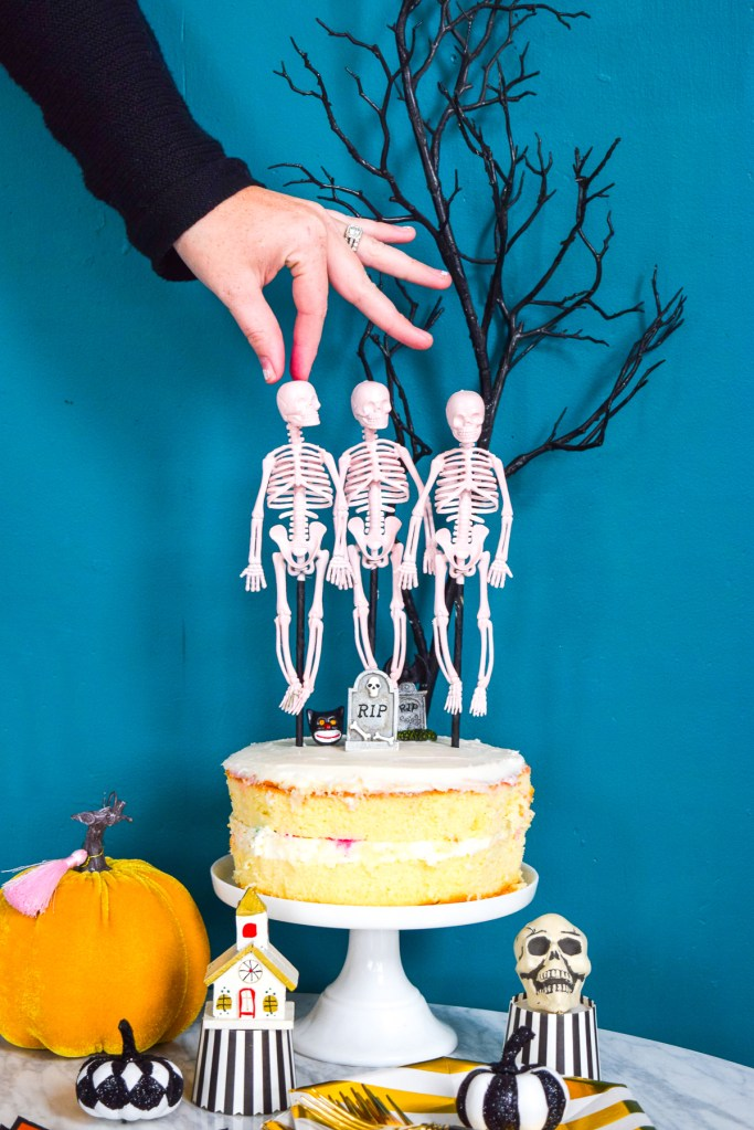 Skeleton Dance Cake Topper
