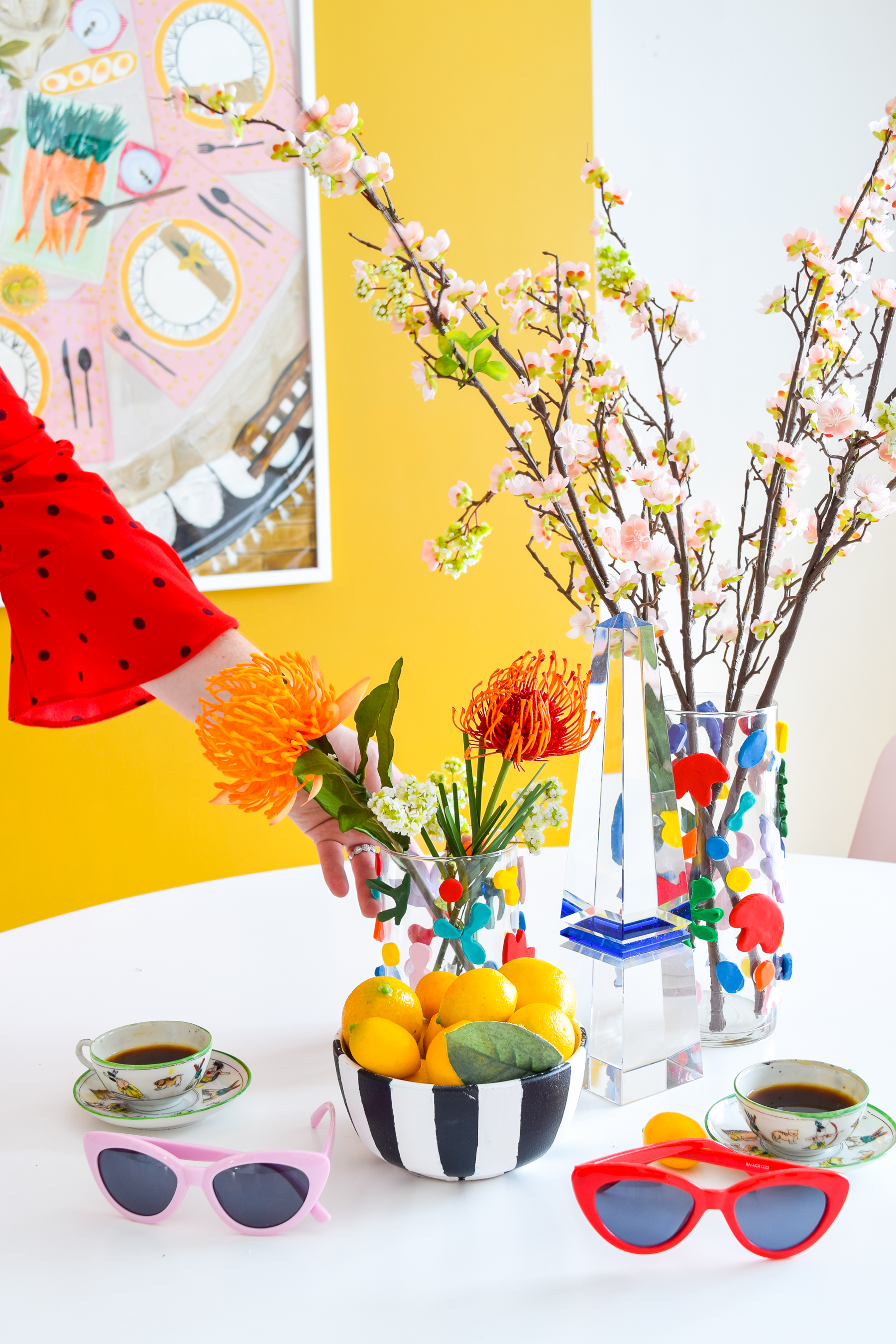 Inspired by the french master, my DIY Matisse Clay Vases are a bold way to add shape and colour to your floral scenes.