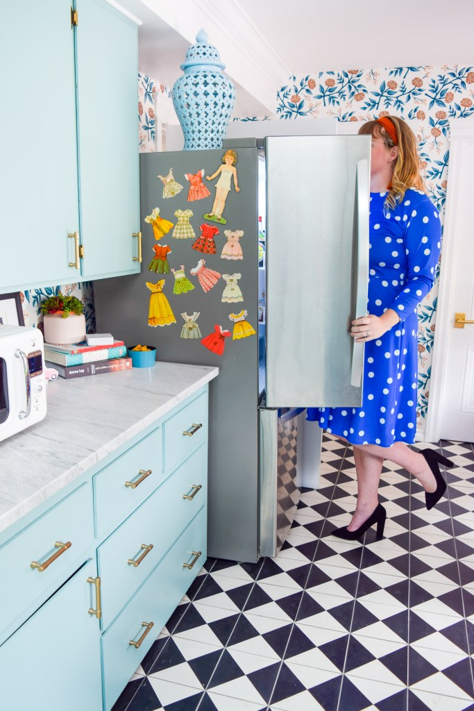 DIY Retro Doll Fridge Magnets