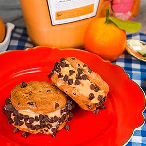 Whipped Orange Ice Cream Sandwiches