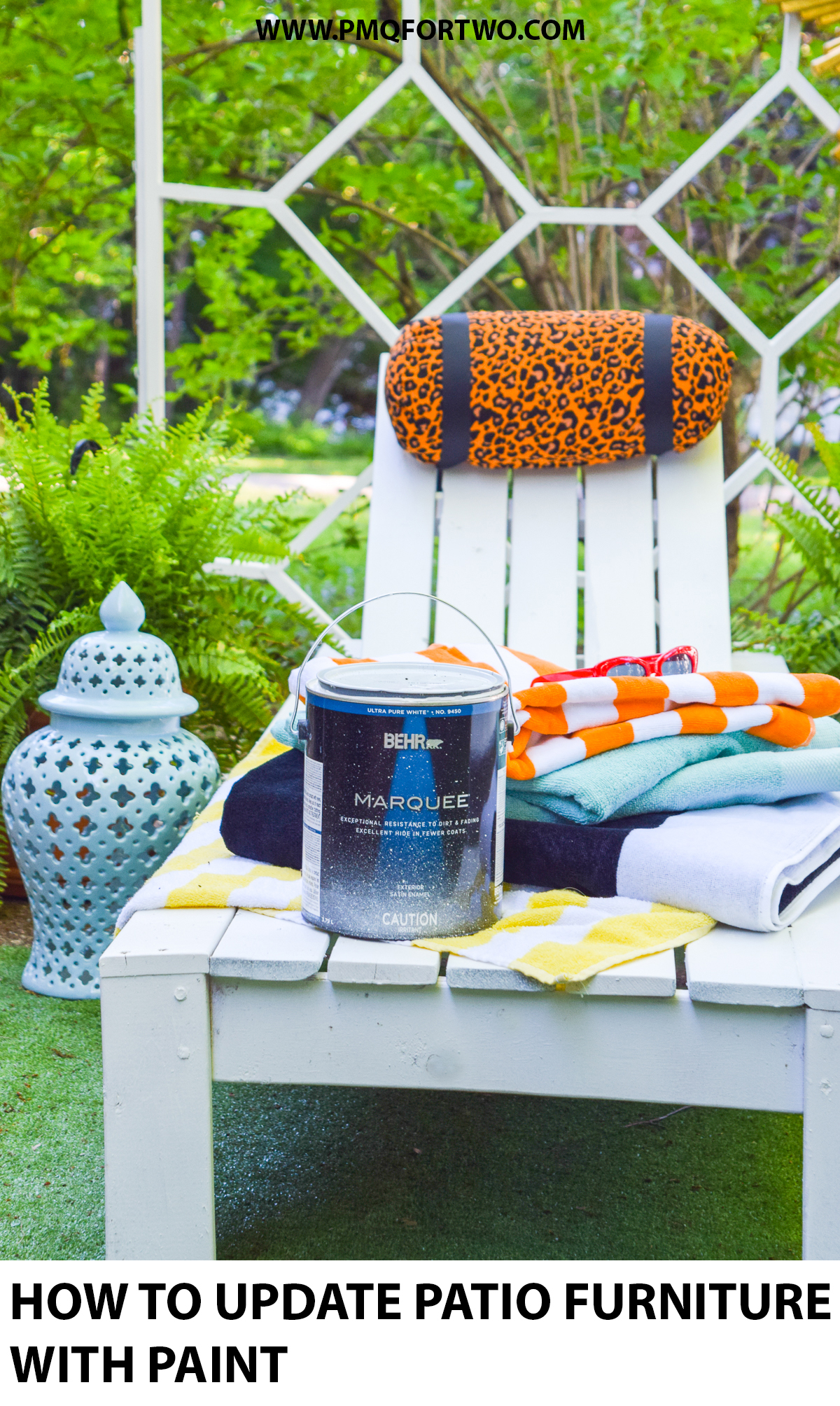 Is your outdoor set looking a little tired? I've got a few DIYs that show you How to update Patio Furniture With Paint, and it's easier than you'd think! You just need the right BEHR paint product.