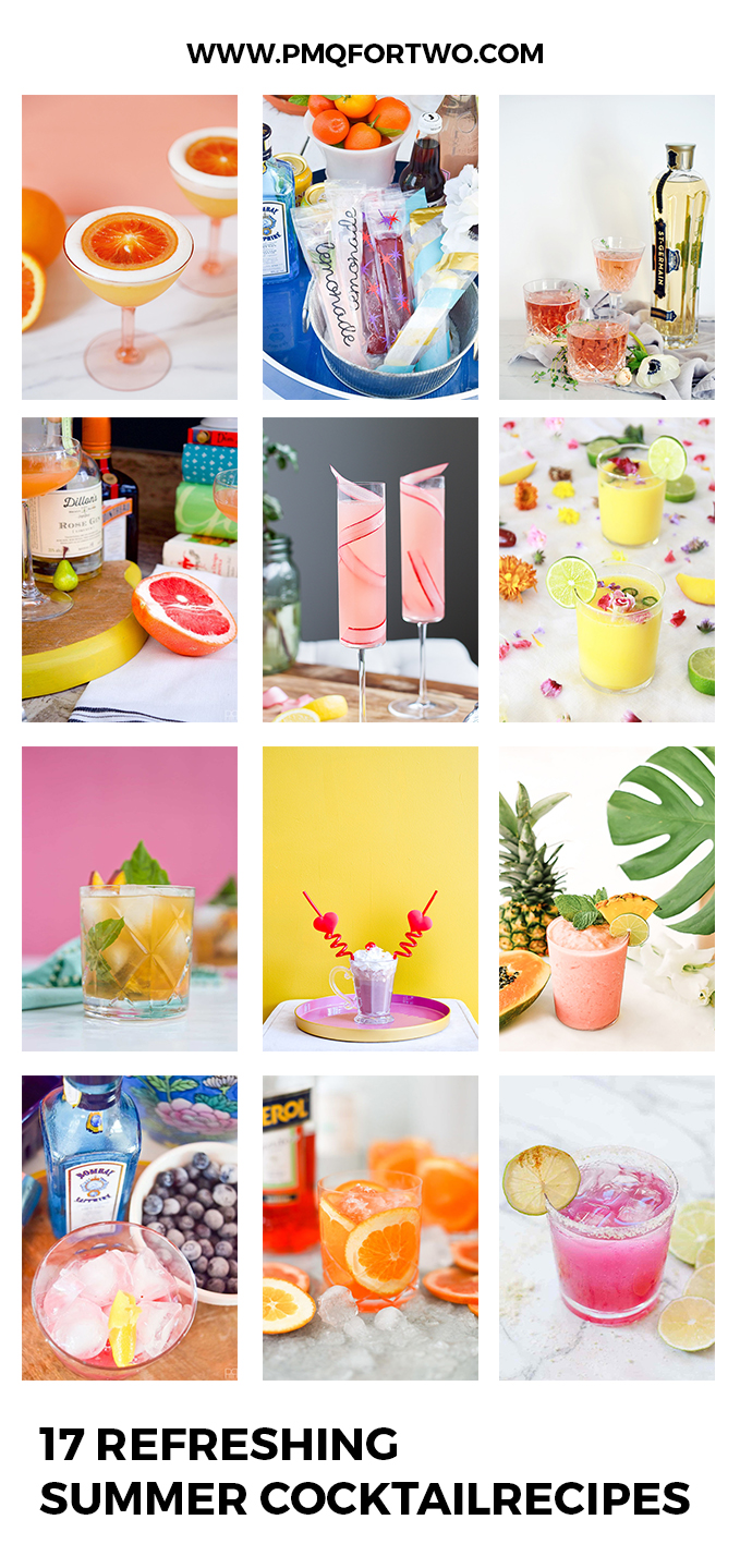 17 (+a few) refreshing summer cocktail recipes & ideas for you try to this weekend, or whenever really. Who needs an excuse?