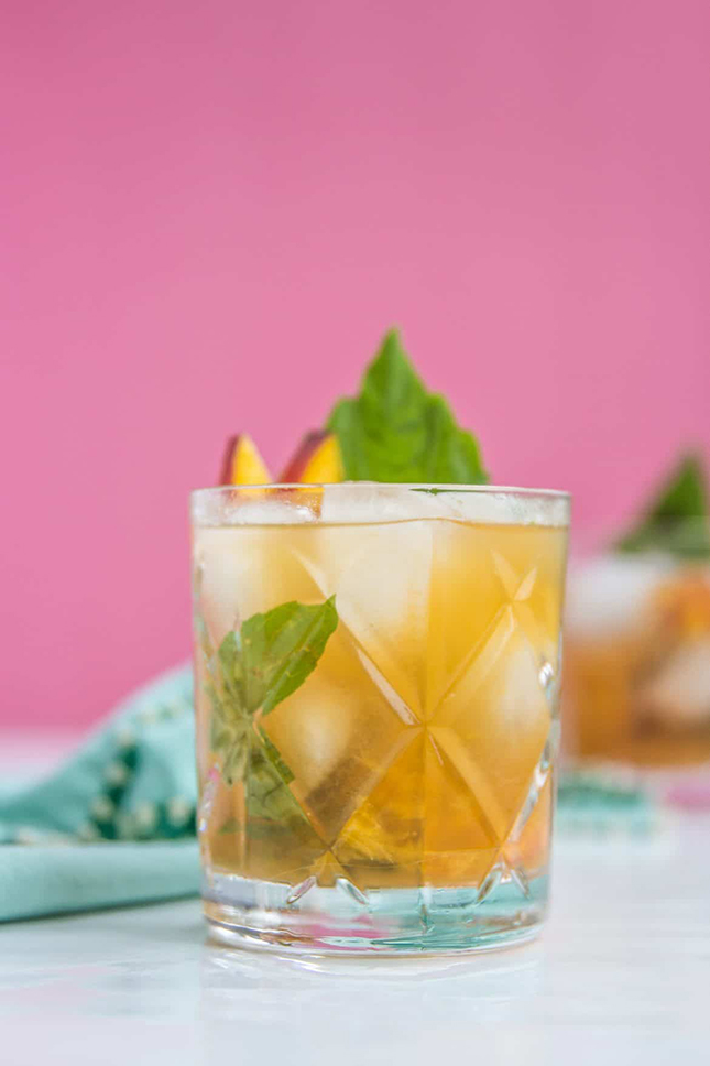 Peach Basil Rye Smash by Liquid Culture