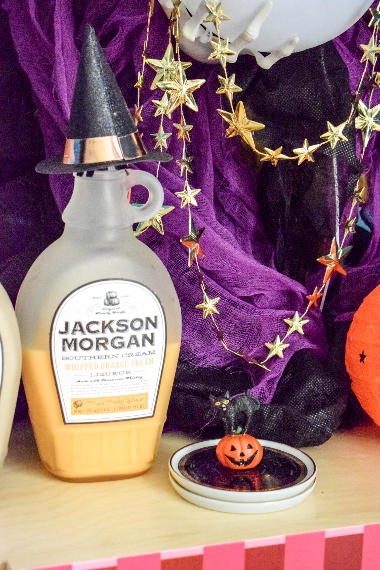 Halloween Home Decor for your bar is as easy as skeletons, Frankenstein and witches! Come see how Jackson Morgan makes the perfect base for each look, and grab some styling tips.