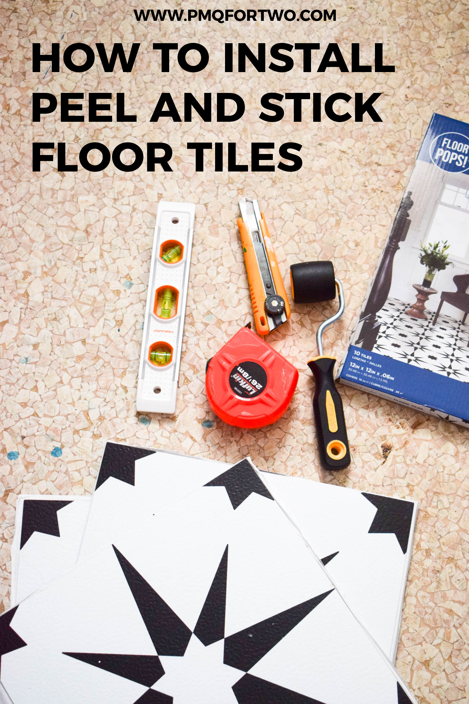 how to install peel and stick floor
