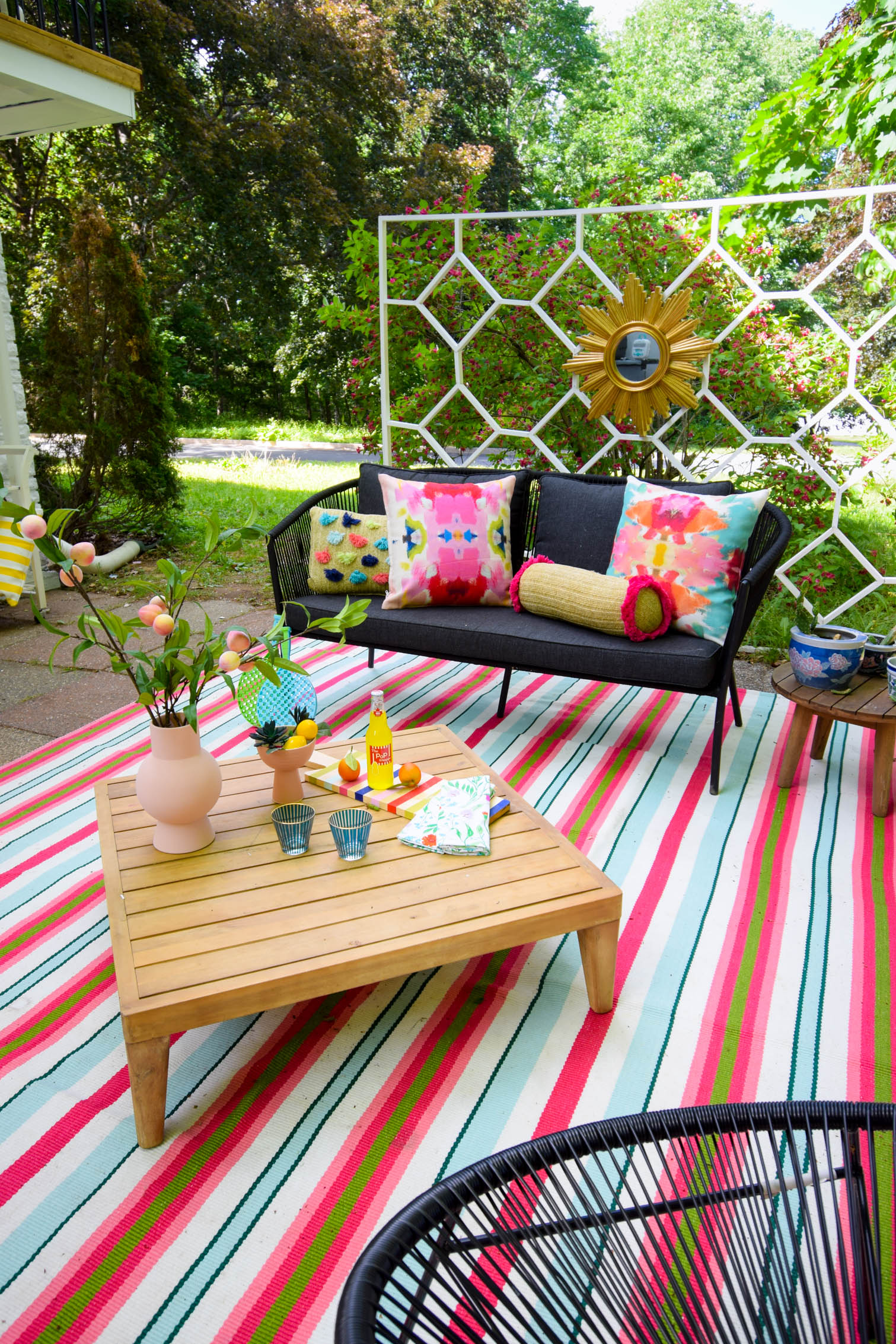colorful patio ideas pmq for two