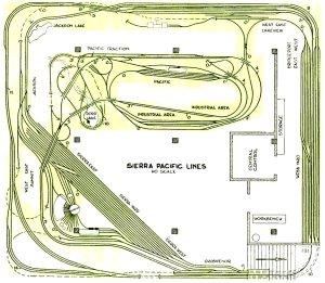 The Sierra Pacific Lines track plan, circa 1960