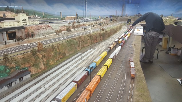 Loading trains into the Midway yard