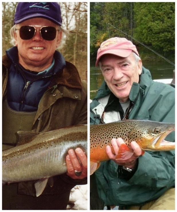 """Jac Ford and Bob Linsenman wanna take you fishing! Jac has donated a 2 day trip on the AuSable River! If you don't have a partner, Bob will join for at least a 1/2 day! And you get a signed and personalized copy of """"Water Songs."""""""