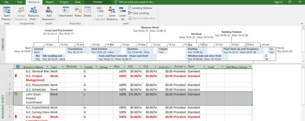 Microsoft Project 2016- Resource with multiple pay