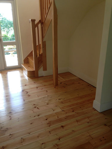 Bona Traffic Silk Matt On Pine Tongue And Groove Boards