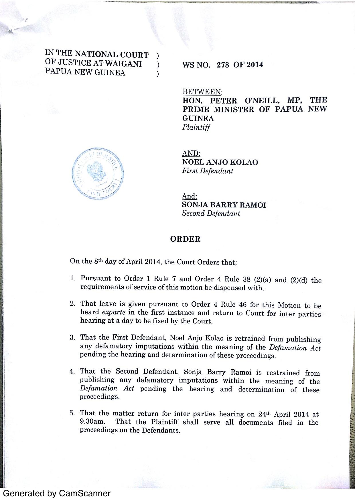 defamation of a prime minister essay