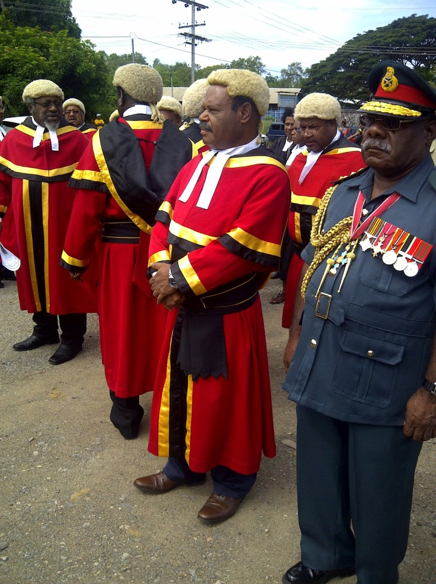 The reformation of the court system in Papua New Guinea.