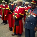 Chief Justice Sir Salamo Injia leading the contingency of judges.