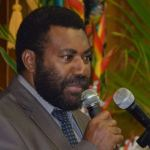 Speaker of the Papua new Guinean Parliament, Theo Zurenuoc