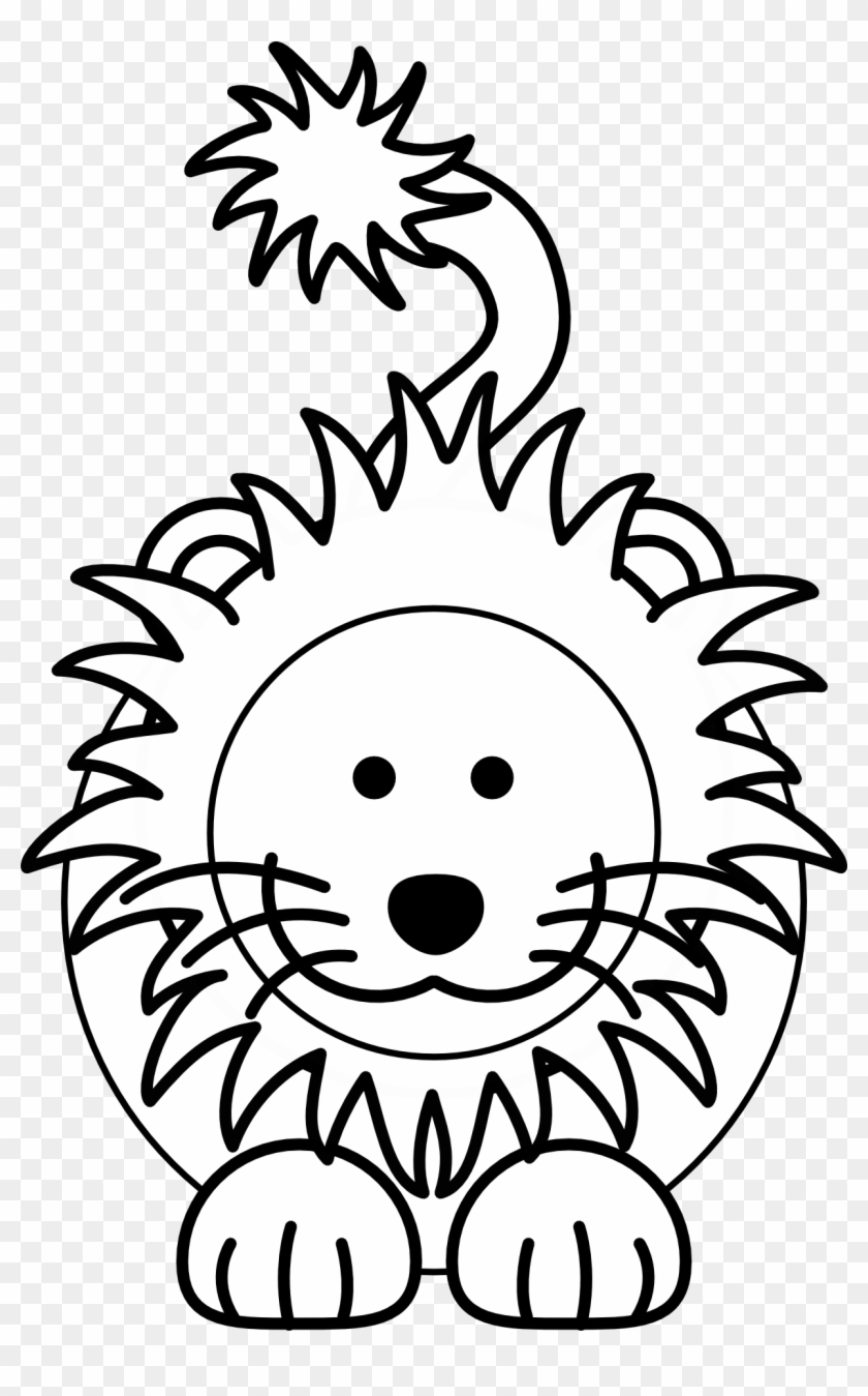 A Child S Drawing Of A Lion Cartoon Lion Clipart Black And White Hd Png Download 1232x1920 3302338 Pngfind