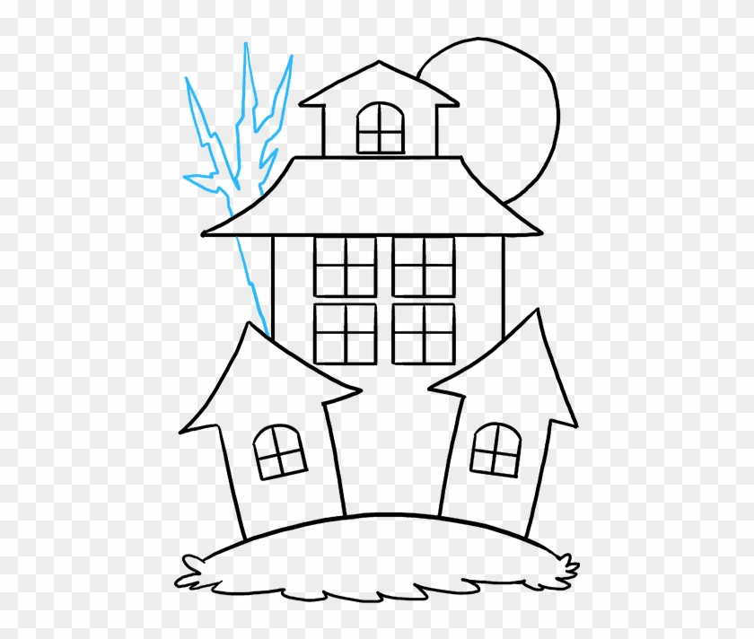 Drawing Halloween Haunted House Haunted House Drawing Easy Hd Png Download 680x678 3799207 Pngfind