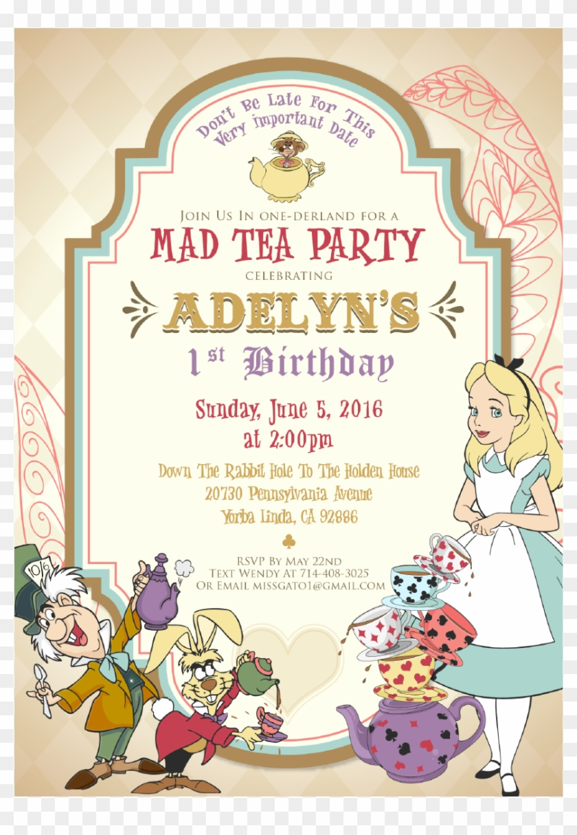 mad tea party birthday invitations