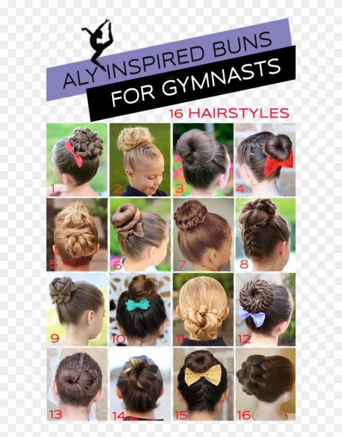 gymnastics hairstyle - easy gymnastics competition hair, hd