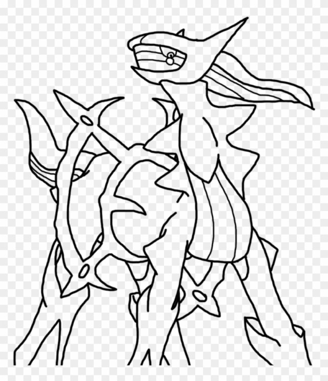 Arceus Legendary Pokemon Coloring Pages - Drawings Of Pokemon