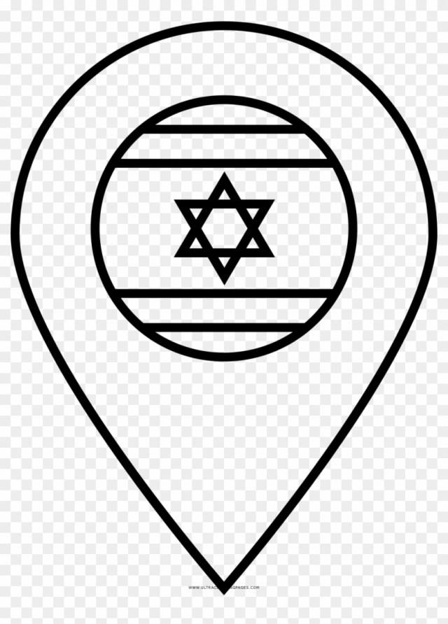 Israel Flag Coloring Page - Israel Flag, HD Png Download