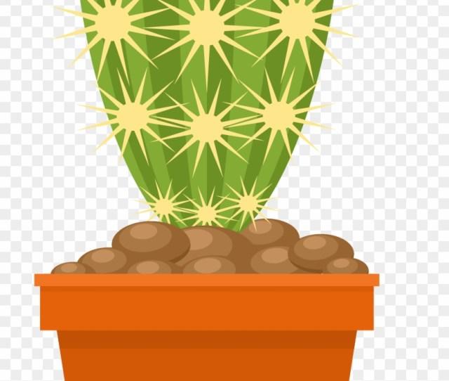 Cactaceae Flowerpot Euclidean Vector Plant Pot Bunga Kartun Png