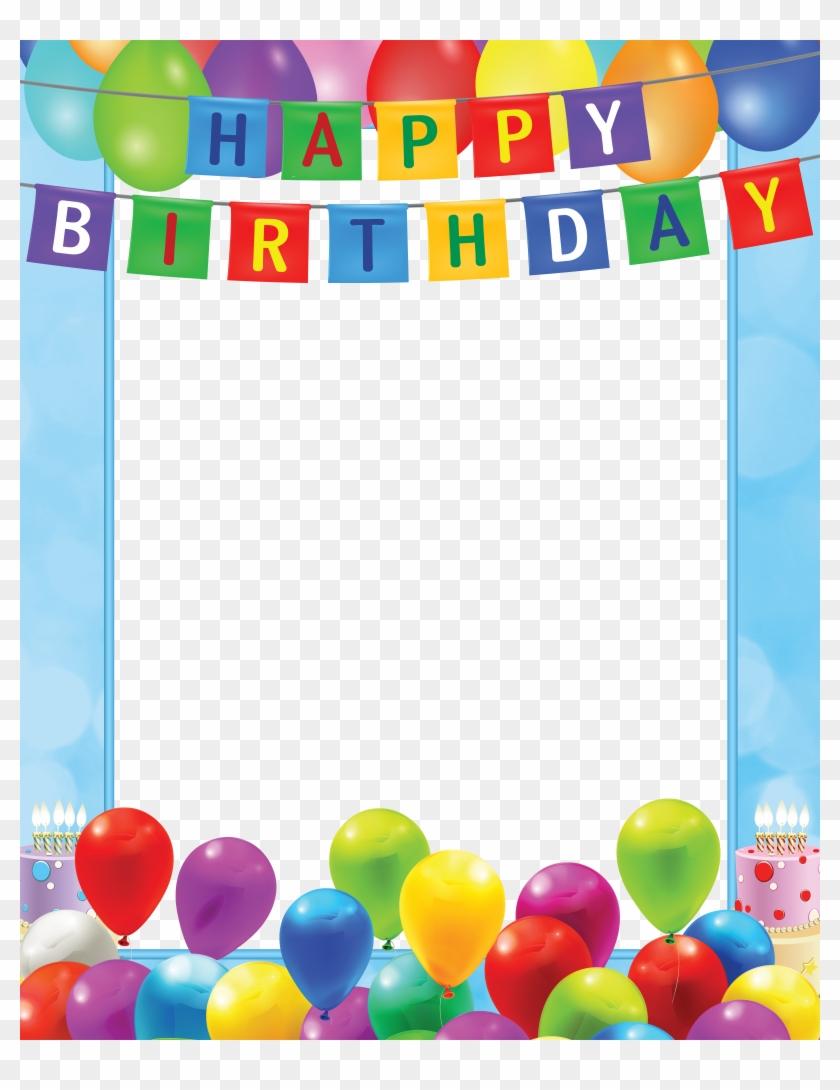 Happy Birthday Transparent Png Blue Frame Transparent Happy Birthday Frame Png Png Download 4000x5000 730572 Pngfind