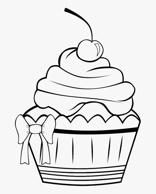 Birthday Cupcake Coloring Page - Cute Cupcake Coloring Pages, HD