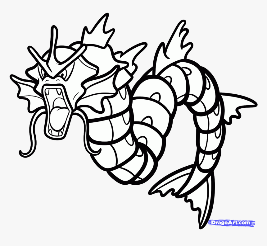 Gyarados Pokemon Coloring Pages Transparent Png Png Download Transparent Png Image Pngitem